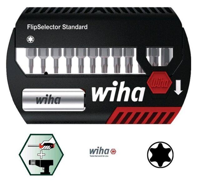 WIHA Bitsortiment FlipSelector 13 tlg. Schlitz/PH/PZD/TX 6kant mit Magnethalter
