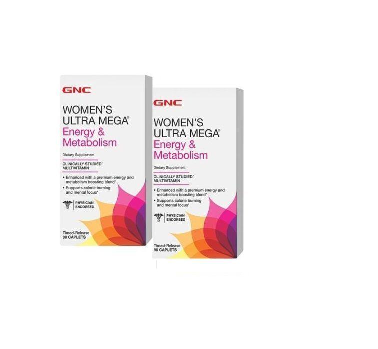 GNC Women's Ultra Mega Energy & Metabolism Vitamins Dieta...