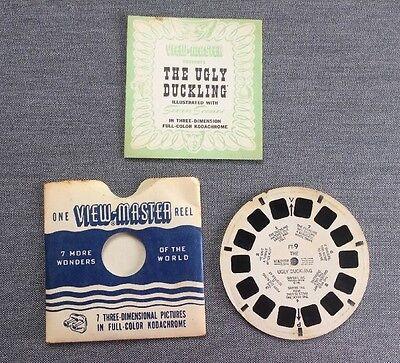 Vintage Ugly Duckling, 1948 View Master Reel FT-9 With Booklet