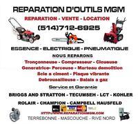 Reparation  - tondeuse - tracteur - souffleuse - compresseur