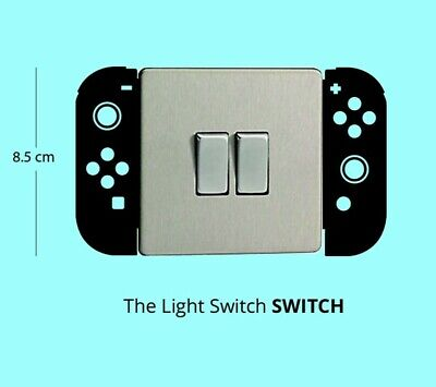 NINTENDO SWITCH Controller light SWITCH black Vinyl Wall Decal Sticker funny