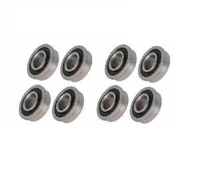 Eight Precision Sealed Flanged 1-38 Od Bearings 12 58 34 Id
