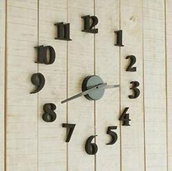 DIY Self Adhesive Decal Modern Wall Digit Number Room Interior Decoration Clock