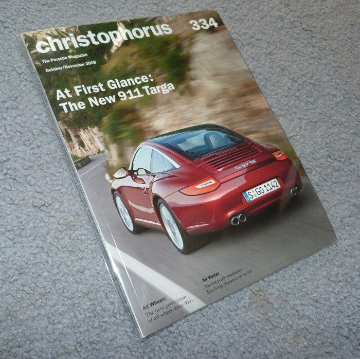 Christophorus #334 Oct/Nov 2008 - Porsche 911 Targa, All Wheel Drive, Yachts