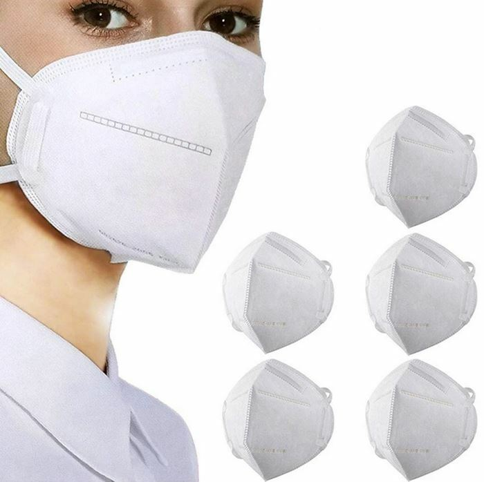 Kn95 Protective Face Mask Ce/ecm Certified   Gb2626 Standard   5-pack