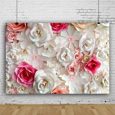 - Backdrops 7x5Ft Vinyl Colorful Flowers Paper Background Pattern Props Background