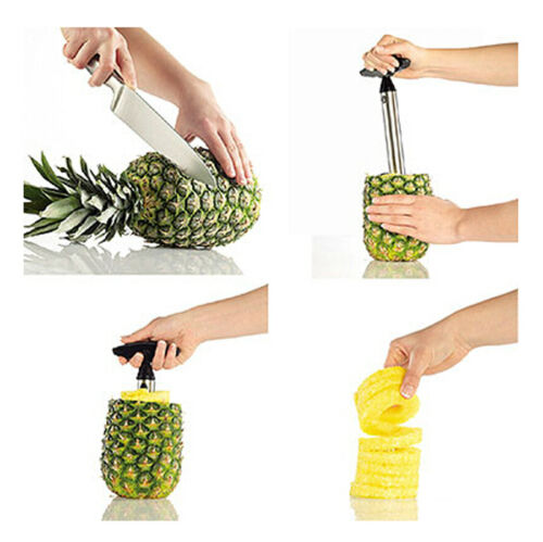 Stainless Steel Fruit Pineapple Cutter Peeler Corer ...