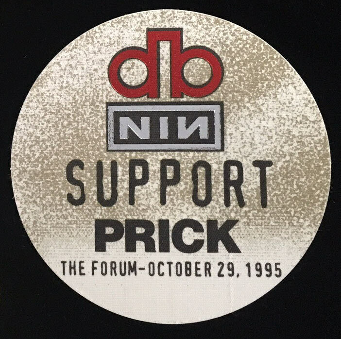 David Bowie Nine Inch Nails Prick Outside Tour 1995 Support Backstage Forum Pass