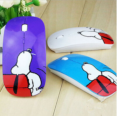 Snoopy Design Cartoon Fashion Gaming Mouse with Pad for Comp