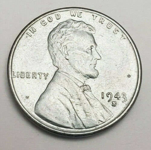 1943 S Lincoln Steel Wheat Cent / Penny *AU - ABOUT UNCIRCULATED* FREE SHIPPING