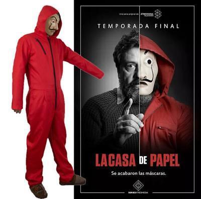 Salvador Dali Money Heist La Casa De Papel Cosplay Costume Suit Hoodie Jumpsuit
