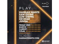 Hannah Wants Play Tour 2018 - Friday 2nd March 2018 Cardiff