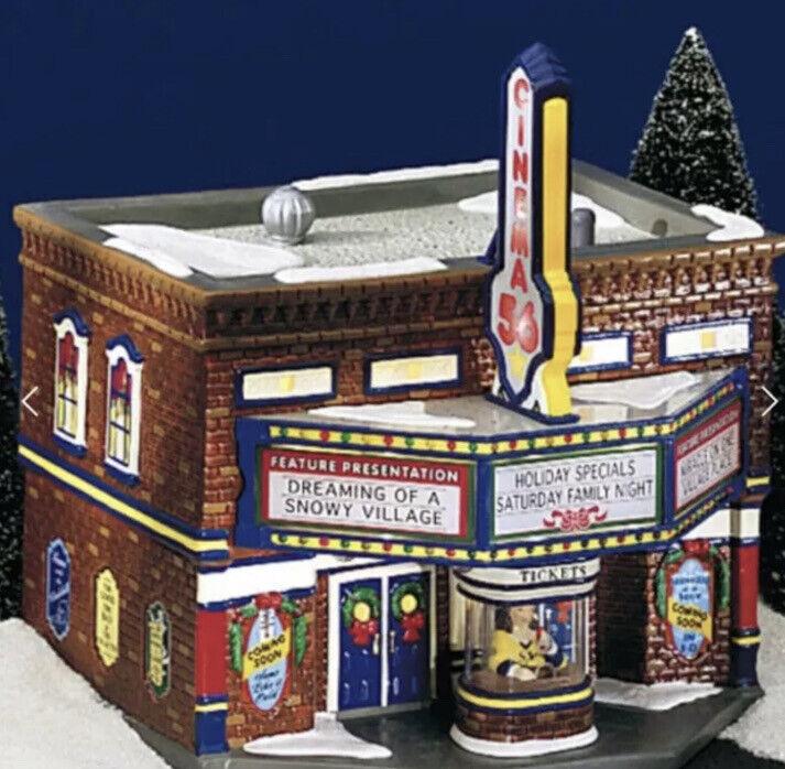 1999 Vintage Department 56 The Original Snow Village CINEMA 56 Theatre #54978