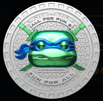 Funko Teenage Mutant Ninja Turtles Digital NFT - TMNT SERIES 1 COIN Mint #25593