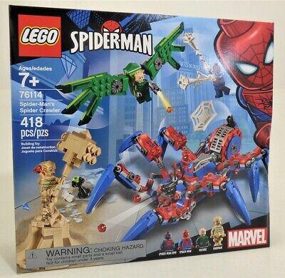 LEGO 76114 Super Heroes Marvel Spider-Man's Spider Crawler NEW *Rough Shape*