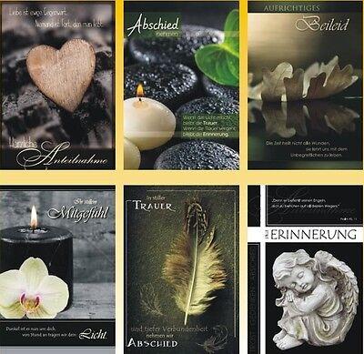 50 Trauerkarten Trauerkarte Trauer Beileidskarten Kondolenzkarten 816690 HI