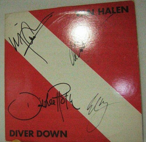VAN HALEN signed lp vinyl album DIVER DOWN 1982  EDDIE VAN HALEN