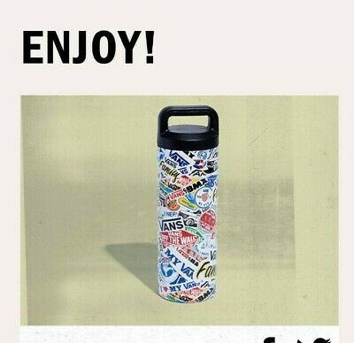 VANS OFF THE WALL FAMILY EXCLUSIVE STICKERS REUSABLE WATER BOTTLE
