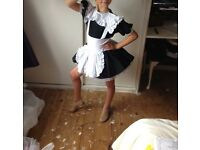 Maid dance costume with tutu skirt- age 7-9