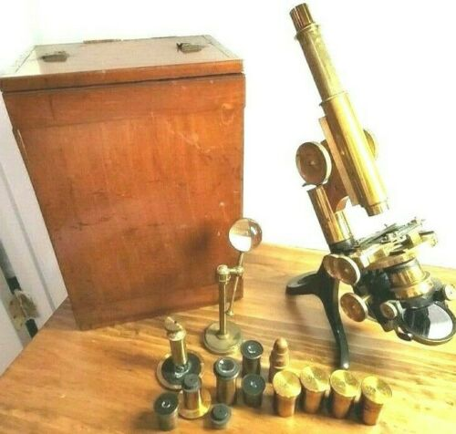 (#1): Henry Crouch London Compound Microscope No.5783