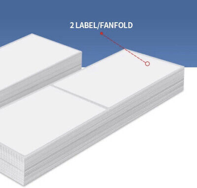500 4x6 Thermal Fanfold Shipping Label Water Proof Strong Adhesive Dark Image