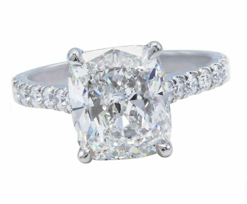 GIA Certified Diamond Engagement Ring 1.48 carat Cushion Shape 14K Gold