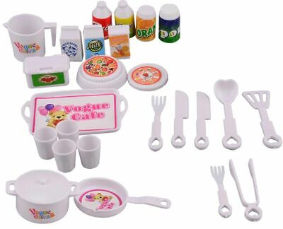 25 Pcs Doll Tableware Set Play House Accessories For Barbie Dolls 11.5 inch 1/6