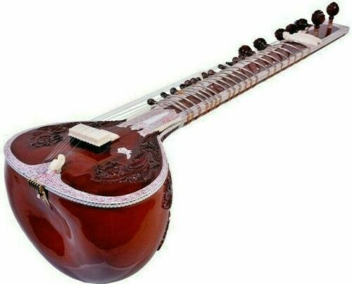 Hand Made Sitar Best Design Bag 7 Main Strings and 11 or 13 Sympathetic strings
