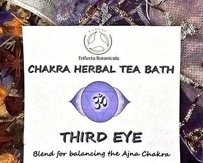 THIRD EYE Chakra Herbal Tea Bath - Reiki Chakra Balancing Apothecary Organic