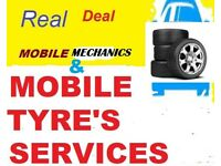 Real Mobile Tyre Fitting ,Puncture Repairs & Mechanics Services