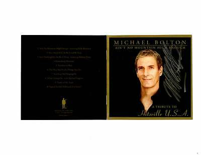 Michael Bolton Signed Aint No Mountain High Enough Cd Tribute To Hitsville Usa
