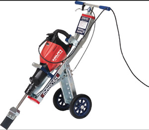 XTEND RENTALS: HILTI TE 1000 floor scraping hammer and trolley