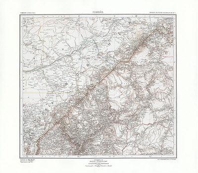 Kamerun - Fumban Nord Nigeria Kolonien Kartographie Foumban Kolonialatlas 39