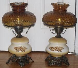 Deux belles lampes de style vintage