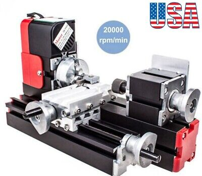 Multifunction Dc12v 24w Diy Miniature Cnc Metal Mini Lathe Machine 20000revmin