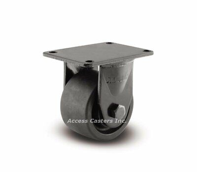 20ng03201r 3 Rigid Business Machine Plate Caster Nylon Wheel 700 Lbs Capacity
