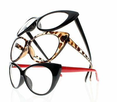 8 Colors Women Retro Vintage Cat Eye Reading Glasses Readers +1.0 ~ +4.0 (Retro Readers)