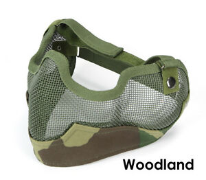 Mesh Mask with Ear Covers - Woodland - NEW