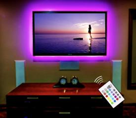 TV Bracket wall mounting with LED lights. Tv Bracket
