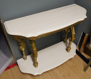 Marble Top Gold Ornate Display Couch / Wall table London Ontario image 4