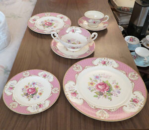 Vintage Myott bone china Stafforshire Rose pattern - PRICE DROP
