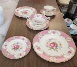 Vintage Myott bone china Stafforshire Rose pattern