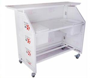 TECHTONGDA NEW Foldable Portable Bar with Double Ice Bins Bar party dedicated 024310