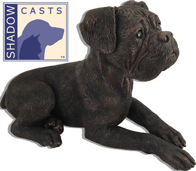 Shadow Cast Dog Cremation Urn Bronze Boxer- Ears Down ()