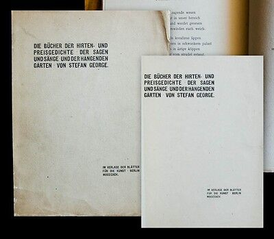 1895 George Stefan Die Bücher der Hirten- und Preisgedichte
