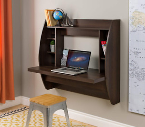 BRAND NEW !!! Prepac Espresso Floating Desk with Storage