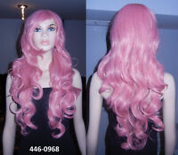 BRAND NEW 80cm Long Deluxe Pink Curly Cosplay Wig (446-0968)