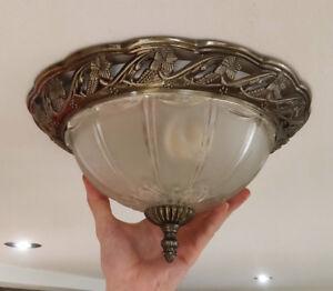 4 plafonniers et 1 semi-plafonnier (fini bronze antique)