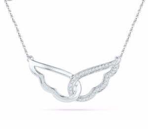 Angel Wing White Gold Necklace