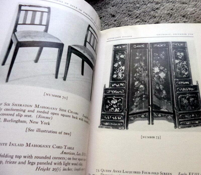 1939 ENGLISH XVIII CENTURY FURNITURE DECORATIONS Parke-Bernet NY Auction Catalog